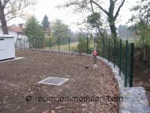 Recinzione del reticolato 2 - filo metallico, giardino, abitazioni private